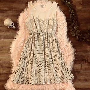 Lark & Wolff polka dot pleated dress